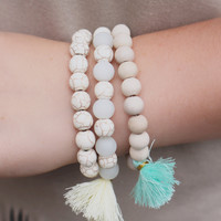 Triple Up Bracelet - Mint