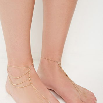Beaded Foot Chain Set | Forever 21 - 1000143089