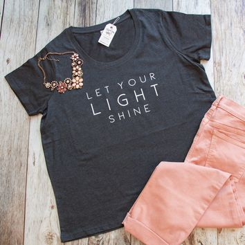 Let Your Light Shine Curvy Tee