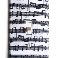 Musical Notes Single Toggle Switchplate