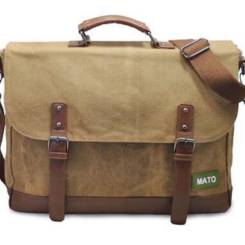 6543294469f2 Mato Laptop Vintage Messenger Bag Crossbody Shoulder Satchel Wat