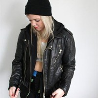 dirty saint amazing biker jacket real leather 1980s vintage from dirtysaint