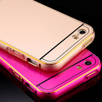 Bumper iPhone Case Metal Aluminum For iPhone 5 5S Ultra Thin 0.5mm Dual Hybrid Bumper+ Back
