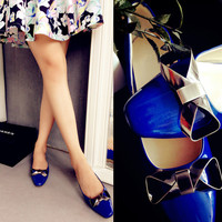 Sweets Metal Butterfly Square Toe Flat Star Shoes [4920470404]