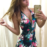 Botanical Daze Floral Print Romper (more colors)