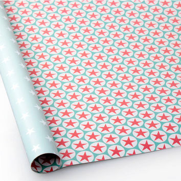 Pattern wrapping paper 10 set - shooting star