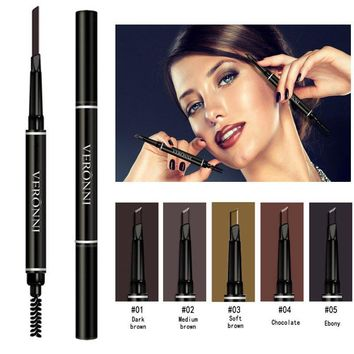 VERONNI Professional Women Eye Makeup Beauty Automatic Eyebrow Pencil Liner Eye Brow Pen with Brush Cosmetic Makeup Tools