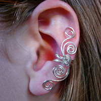 Silver Plated Multi Swirl Ear Cuff New Design by jhammerberg on we heart it / visual bookmark #27497625