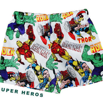 "Children Super Hero's Boy ""cotton"" Boxers; Ironman, Increditable Hulk Boy Shorts; Briefs  3T- 4"