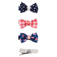 4-Pack Bow Hair Clips