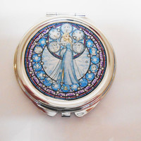 Frozen Elsa Two Sided Compact Mirror Fairytale Once Upon A time