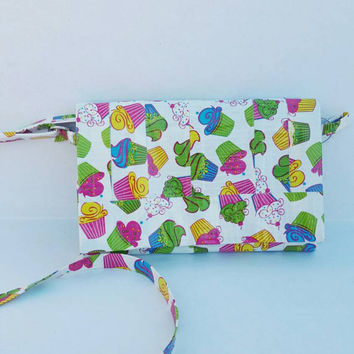 Cupcake Cross Body - Crossbody Purse - Duct Tape Purse- Handbag