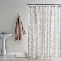 Cream Leopard Shower Curtain