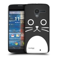 Head Case Designs Catalina The Cat Cartoon Animal Faces Protective Snap-on Hard Back Case Cover for Motorola Moto X