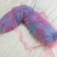 Luxury 25 Inch Bubble Gum Play Faux Fur Tail.