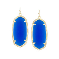 Kendra Scott Elle Blue Cobalt Earrings 14K Gold Plated
