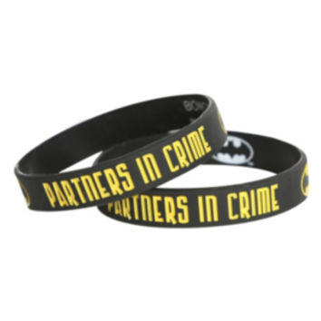 DC Comics Batman Partners In Crime Rubber Bracelet 2 Pack