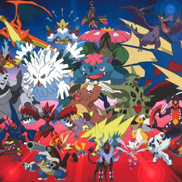 Pokemon Mega Evolution Poster 22x34