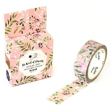 Pink Floral Washi Tape (Wanelo Special)
