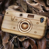 Cool Bamboo Case for iPhone 4/4S - Camera
