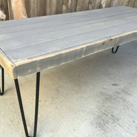 49 shades of grey: Coffee table , Pallet wood , Reclaimed wood, hand crafted, wooden table, furniture
