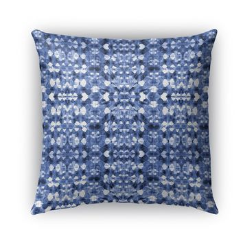 SHIBORI MIRROR Indoor|Outdoor Pillow By Becky Bailey