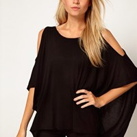 ASOS Top with Oversize Open Shoulder at asos.com