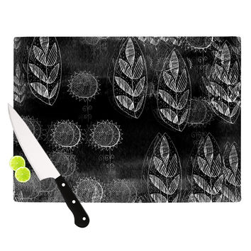 "Marianna Tankelevich ""Grey Dream"" Black Gray Cutting Board"