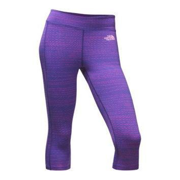 Women's Pulse Capri Tights in Amparo Blue Tribal Tracks by The North Face - FINAL SALE