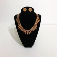 vintage matisse renoir copper jewelry necklace and earrings set