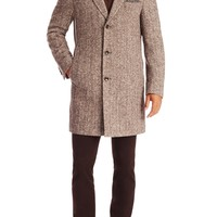 'The Logan' | Virgin Wool and Silk Coat With Detachable Quilted Lining by BOSS