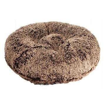 Round Bed — Chocolate Frosted Shag