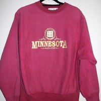 BeWorn — Vintage Burgundy University of Minnesota Jumper