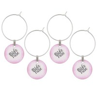 Bride Tribe Wine Glass Charms Set of 4 Customise