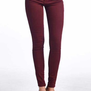 Flying Monkey Jeans Marsala Colored Skinny Jeggings L7384-TU