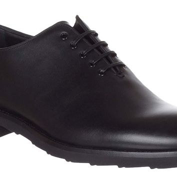 Dolce & Gabbana Men's Black Leather Lace Up Oxford Shoes