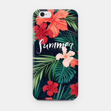 Cute Summer Flower Leaves Case for iPhone