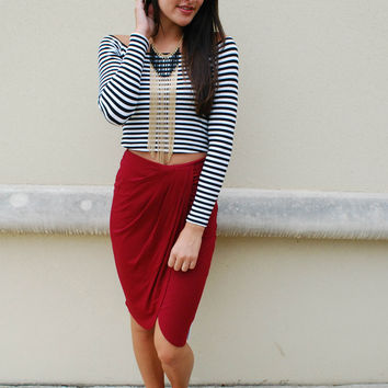 Rosemary Wrap Skirt - Wine