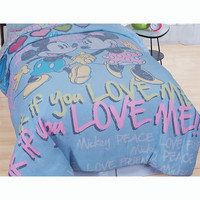 Mickey Minnie Mouse Full Comforter Set Disney Vintage Bed