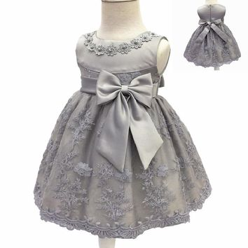 Flower girl dresses Birthday Infant Baby Girls Wedding Pageant 2017 Summer Princess Party Dresses Children Clothes Christmas 0-2