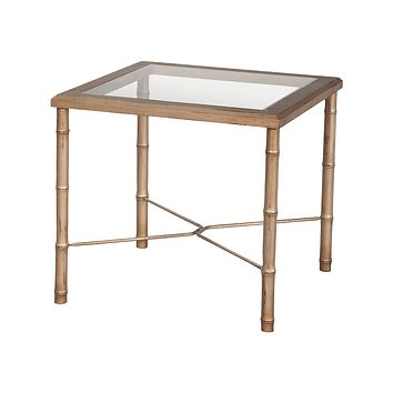 Bamboo Side Table In Champagne Gold