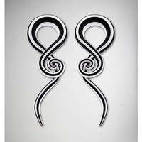 Black and White Glass Spiral Tapers - Spencer's