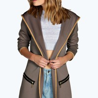 Regan Hooded Duster Coat
