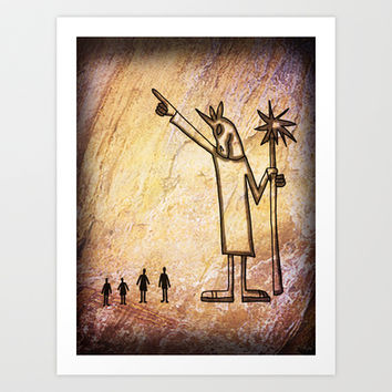 Unicorn Cave Painting Art Print by That's So Unicorny