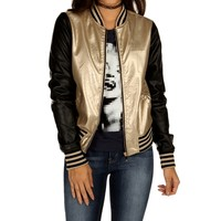 Sale-gold 2-tone Metallic Jacket