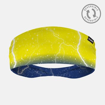 Lightning Yellow Blue Headband