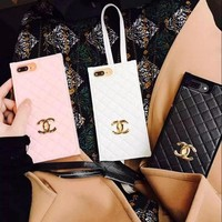 One-nice™ Chanel Fashion Tartan iPhone Phone Cover Case For iphone 6 6s 6plus 6s-plus 7 7plus