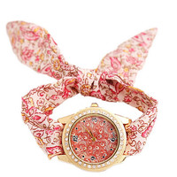Womens Girls Unique Cloth Strap Watch Best Christmas Gift