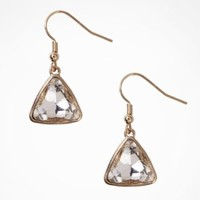 FACETED TRIANGLE DROP EARRINGS