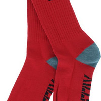 Grizzly High Crew Socks Red/Black/Grey 1 Pair